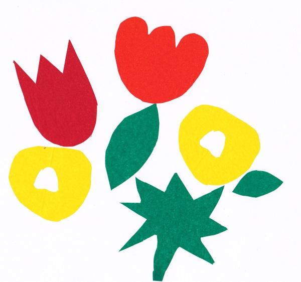 Beispiel für ausgeschnittene Seidenpapier-Blüten © Karolin Buckl | www.karolin-buckl.de