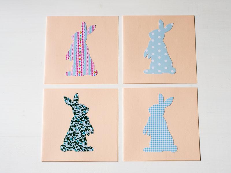 Osterhasenkarte  Hasen